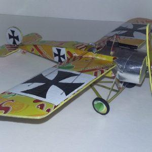 Aluminum can airplane Fokker Eindecker