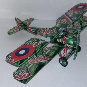 Aluminum can airplane SPAD