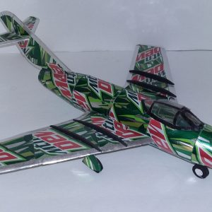 Aluminum can airplane MiG-15