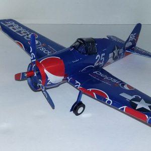 Aluminum can airplane F6F Hellcat