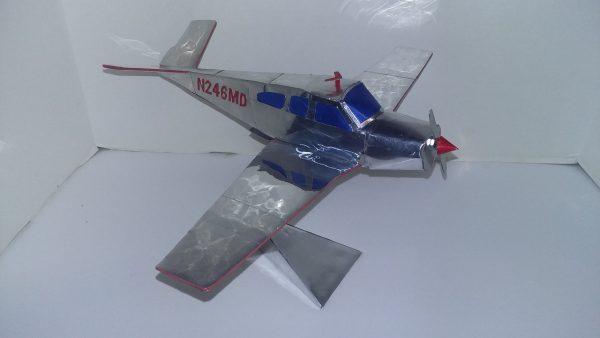 Aluminum can airplane Beechcraft Bonanza