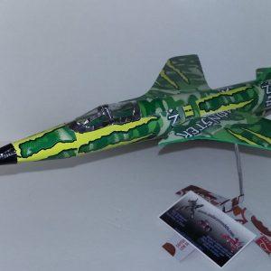 Aluminum can airplane F-105 Thunderchief