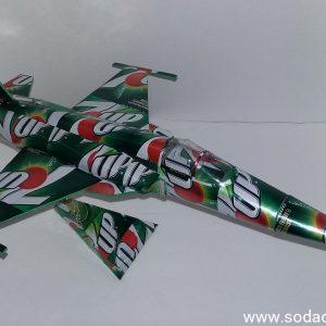 Aluminum can airplane F-5E Tiger