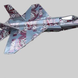 Aluminum can airplane F-35 Lightning