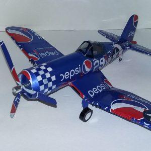 Aluminum can airplane F4U Corsair