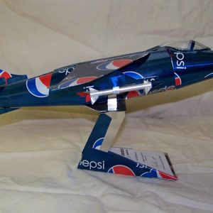 Aluminum can airplane Harrier