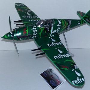 Aluminum can airplane Hawker Hurricane