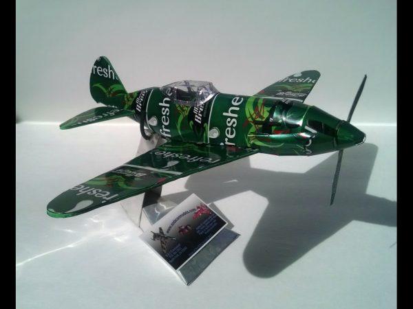 Aluminum can airplane MiG-3 plans