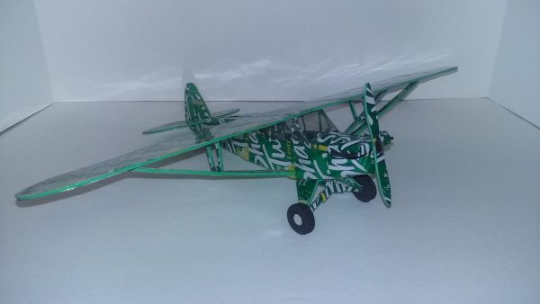 Aluminum can airplane Piper Cub