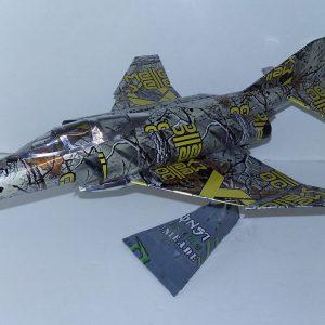 Aluminum can airplane F-4 Phantom