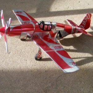 Aluminum can airplane P-51B Mustang