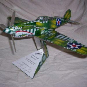 Aluminum can airplane P-40 Warhawk