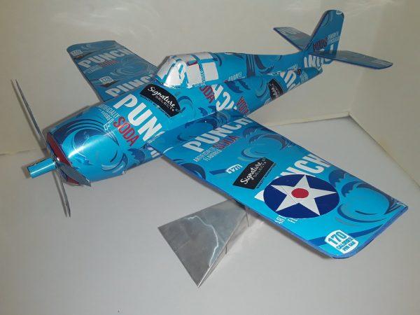 Aluminum can airplane Wildcat
